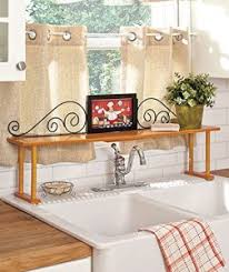 easy home expandable under sink shelf over the sink shelf organizers for kitchen and bathroom counters