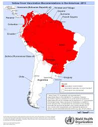 Middle And South America Map by Who Yellow Fever U2013 Suriname