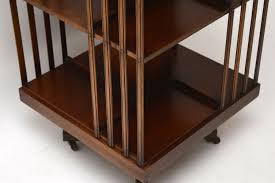 Wohnzimmerschrank Mahagoni Antikes Edwardian Mahagoni Drehbares Bücherregal