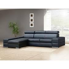 Large Black Leather Corner Sofa Sofa Bed Leather Sofas