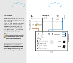 simx fully adjustable run on fan timers