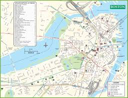 Map Of Arizona Cities Boston City Map Map Of Boston City Ma Capital Of Massachusetts