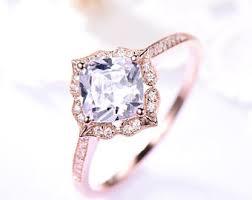 cz engagement ring cz engagement ring etsy