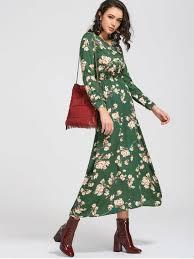 floral maxi dress sleeve buttons tiny floral maxi dress green maxi dresses xl