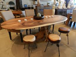 teak root dining table base oval dining table in suar wood and teak root furnished pinterest