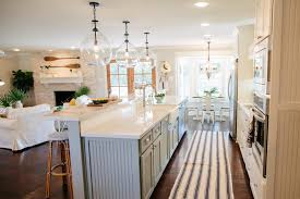 the green mile house magnolia homes bloglovin i designed this extra long kitchen island with our cabinet maker to add definition from the rest of the new open floorplan without making it feel closed in