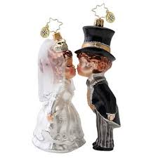 christopher radko 2016 wedding ornaments sealed with a ornament