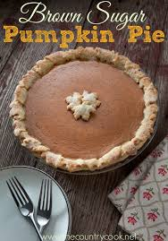 brown sugar pumpkin pie the country cook