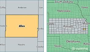 map of allen allen county kansas map of allen county ks where is allen