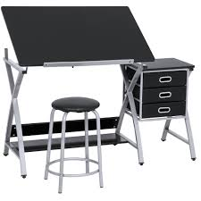 Chair For Drafting Table Best Choice Products Office Drawing Desk Station Adjustable Drafting T