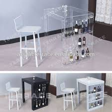 pub table with wine rack lucite mini bar table with wine rack modern acrylic pub tables buy