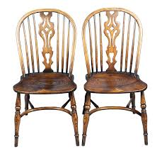 Slat Back Dining Chairs with Pair Of Batheaston Slat Back Windsor Dining Chairs
