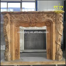 supply white marble fireplace european cream colored fireplace