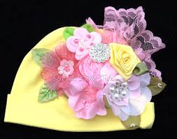 parade ribbon flower parade ribbon bouquet baby cotton hat