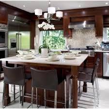 kitchen contemporary brown kitchen kitchen island with dining
