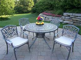 Old Metal Outdoor Furniture by Patio Nantucket Round Metal Outdoor Dining Table Metal Patio