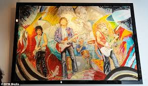 painted wood artwork ronnie wood s including 300 000 he painted up for sale