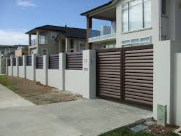 Aluminium main entrance gate design for modern home