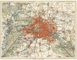 Vintage Map Berlin Vintage Map Stock Photo Picture And Royalty Free Image