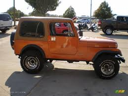 orange jeep cj 1985 orange metallic jeep cj7 4x4 23164449 photo 5 gtcarlot