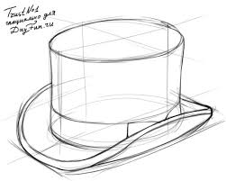 how to draw a top hat step by step arcmel com