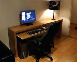 Small Pc Desks Slim Computer Desk Workstation Desktop Furniture Table Cheap Desks