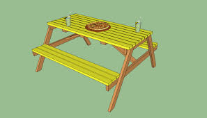 Building Wooden Picnic Tables by How To Build A Wooden Picnic Table Howtospecialist How To
