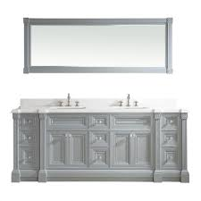 inch gray finish sink bathroom vanity cabinet with mirror
