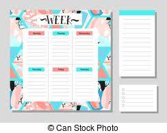 summer holiday planner template notebook notepad planner organizer sketchbook hand drawn