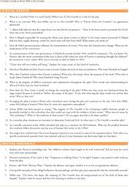 crucible study guide ap answers the crucible essay questions conformity crucible theme essay top