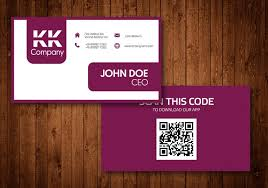 Business Card For Ceo Two Sided Business Card Vector Design Download Free Vector Art