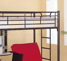 Twin Workstation Loft Bunk Bed With Futon Chair  Desk Coaster - Half bunk bed