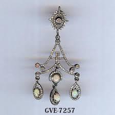 designer earrings designer diamond earring chandelier opal diamond designer