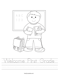 welcome to first grade coloring cool coloring welcome to first