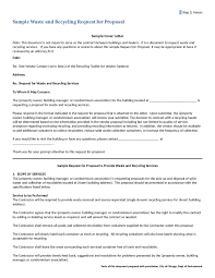 How To Write A Cover Letter For A Proposal Request For Proposal Template Free Printable Request For
