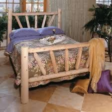 Log Queen Bed Frame Cedar Bedroom Furniture Foter