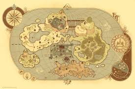 Old World Map Poster by Albino Raven Ye Olde Mario World