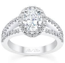 split band engagement rings oval halo engagement ring split band