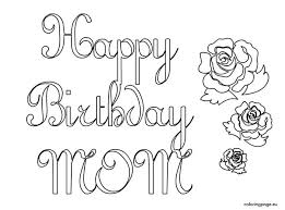 happy birthday mom coloring pages holiday best images of happy