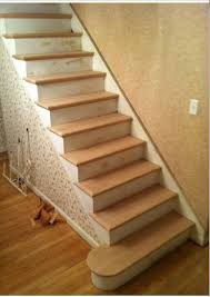Laminate Flooring On Stairs Nosing Stair Stairs Design Idea With Prefinished Oak Treads Combine With