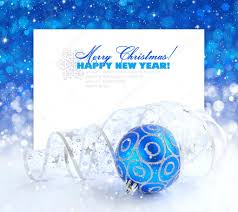 Christmas Decorations Blue And Silver by Christmas Blue And Silver Decorations On Festive Background A