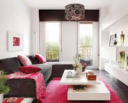 Black Sofa Set Designs Apartment White Wall Decoration With Pink Area Rug And Black Sofa