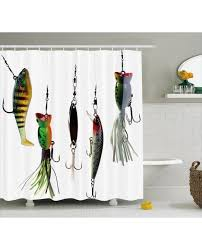 Fishing Shower Curtains Shower Curtain Sea Animals Theme Print For Bathroom