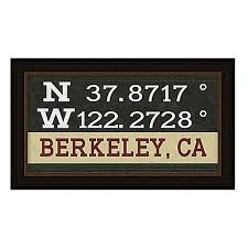 Bed Bath And Beyond Berkeley Berkeley California Coordinates Framed Wall Art Bed Bath U0026 Beyond