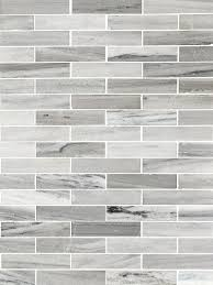 Modern White Gray Subway Marble Backsplash Tile - Gray backsplash tile