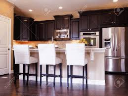 stainless steel island for kitchen kitchen color schemes with dark wood cabinets red eleagnt wood