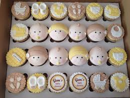 baby shower cupcakes made of onesies cute baby shower cupcakes