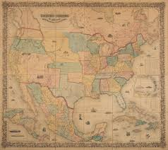 Mexico Wall Map Colton U0027s Map Of The United States Of America The British