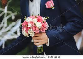wedding flowers groom wedding bouquet groom wedding day stock photo 580380415