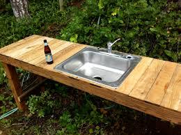 camp kitchen designs garden sink ideas home outdoor decoration